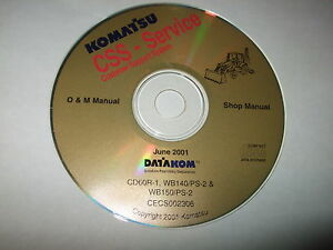 Komatsu Cd60r 1 Wb140 ps 2 Wb150 ps 2 Backhoe Loader Service Shop Repair Manual