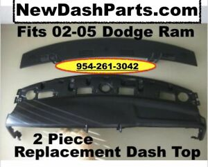 02 03 04 05 Replacement 2 Piece Dash Board Tops Fit Dodge Ram Pick Up Black