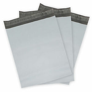 Poly Mailers plastic Envelopes White gray Shipping Mailing Bags 2 50 Mil