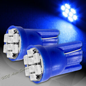 2x Blue 8 Led Smd 12v T10 Interior Side Marker Courtesy Wedge Light Lamp Bulbs