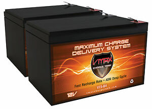 2 Vmax64 Agm 12v 15ah Agm Deep Cycle Scooter Batteries Upgrade Your Scooter