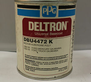 Ppg Deltron Universal Basecoat Paint Dbu 4472 Ga M6486a Medium Aubergine Poly Pi