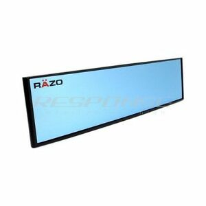 Razo Clip On Wide Rear View Mirror Blue Tint 290mm Convex Universal Carmate Rg48