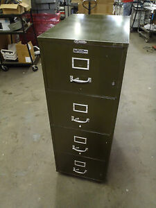 Vintage Victor Fire Master 4 Drawer File Cabinet Certified 1 Hour Fireproof Safe