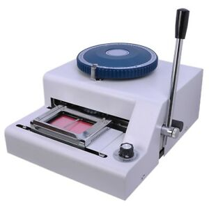 70 character Pvc Card Embosser Laser Engraved Dial Stamping Credit Id Embossing