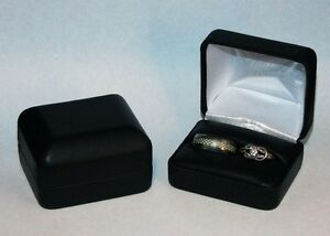 Classic Leatherette Dual Ring Boxes Package Of 6