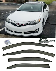 For 12 17 Camry Sedan Jdm Side Door Window Visors Deflector Shield Rain Guard