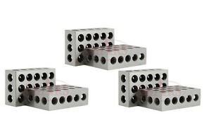 3 Matched Pairs 6 Pcs Precision 123 1 2 3 Blocks Block 23 Holes 0002 New A