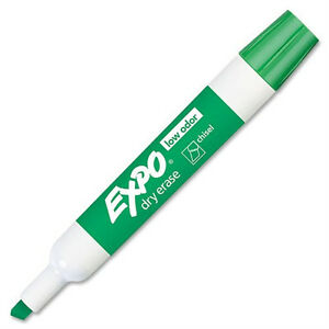 For Schools Expo low Odor Chisel Dry Erase Marker Green 144 Each 80004