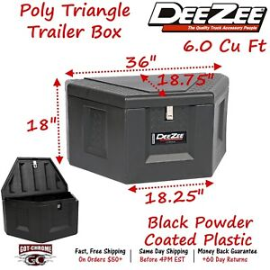 Dz 91717p Dee Zee Tool Box Poly Triangle Trailer Tongue Box Plastic
