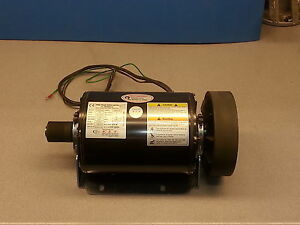 Motor 2 Hp 1 5 Kw 240v 3 Phase 60hz Double Ended Shaft Resilient Base