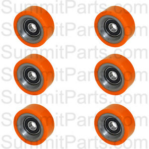 6pk High Quality Orange Drum Roller Bearing For Huebsch sq ipso 70298701p