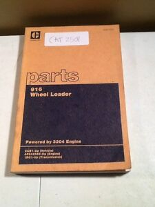 Cat 916 Wheel Loader Parts Manual oem