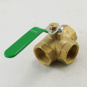 Female Full Ports Brass Ball Valve Three Way 3 4 Bspp Connection