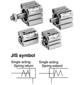 Smc Type Single Acting Spring Return Cdqsb25 45s Compact Cylinder