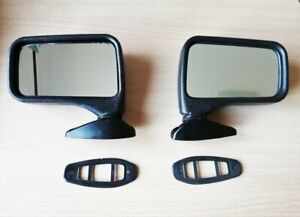 Fiat 124 131 132 Abarth Dino Spider Side Mirror Flag Style Set Right Left Screw