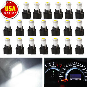 20x White 73 74 T5 Instrument Cluster Dashboard Light Led Bulb Pc74 Twist Socket