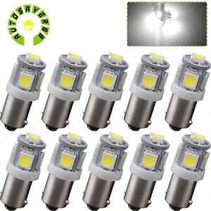 10pcs T11 Ba9s 5050 5 Smd 6000k White Led Car Interior Dome Map Light Bulbs