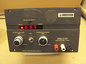 Lambda Dc Power Supply Lq 530 0 10v 0 14a Good Used