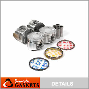 90 01 Acura Integra Gs Ls Rs 1 8l Dohc Pistons And Rings Set B18a1 B18b1