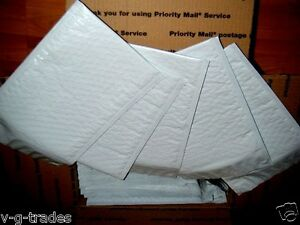 Lot Of 100 8 5 X 14 5 Poly Bubble Shipping Mailers 3 White Poly Envelopes