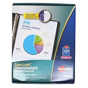 Avery 250 Ct Sheet Protectors Clear Top Load 76006 Acid Free Sealed Package New