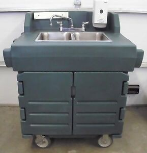 Cambro Ksc402 Portable 2 Comp Hand Washing Sink