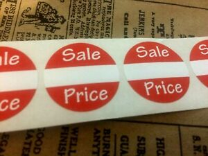 250 Self adhesive Sales Price Labels 1 Stickers Tags Retail Store Supplies