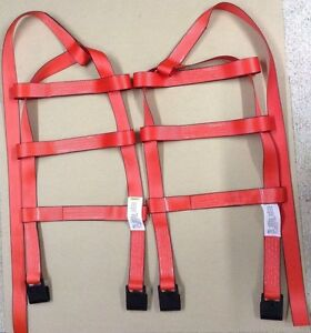 Demco Car Basket Straps Tow Dolly Wheel Net Set Flat Hooks Red Usa