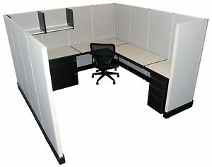 Herman Miller Ao2 8 x8 Office Cubicles Workstations Refurbished Furniture