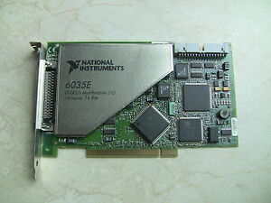 National Instruments Pci 6035e Ni Daq Card 16 Bit Analog Input Multifunction