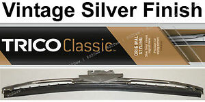 Classic Wiper Blade 12 Antique Vintage Styling Silver Finish Trico 33 122