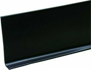 M D Bldg 75457 4 X 120 Black Vinyl Wall Base Cove Moulding In Bulk Roll