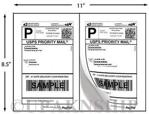 2000 Paypal Shipping Postage Labels 2 Labels To Page 8 5x5 5 W Square Edges