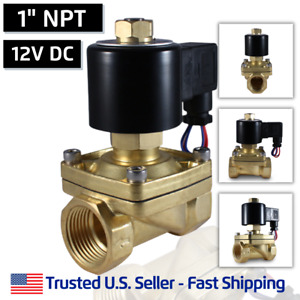 1 12v Dc Normally Open Electric Brass Solenoid Valve Gas Water 12 Volts Dc
