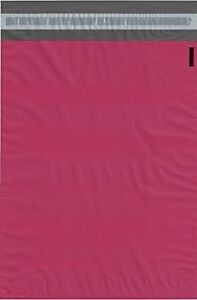 100 14 5x19 Pink Poly Mailers Shipping Envelopes Couture Boutique Quality Bags