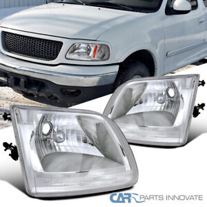 For 97 03 Ford Expedition F150 F 150 Pickup Headlights Driving Head Lamps Pair