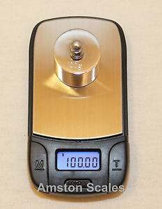 100 x 0.01 GRAM DIGITAL POCKET SCALE GRAIN CARAT RELOAD GUN BLACK POWDER GOLD GN