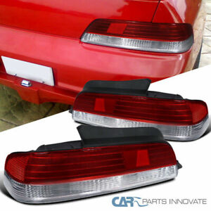 For Honda 97 01 Prelude Reverse Tail Lights Brake Rear Parking Lamps Red Clear