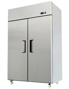 Chefsfirst Solid 2 Door Upright Reach in Commercial Freezer