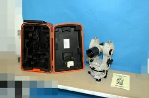 Sokkisha Tm6 Transit Theodolite Good Condition With The Case
