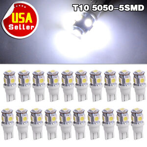 20x T10 Canbus Led Light Cool White 5050 Smd Interior Map Bulb 194 168 2825 W5w
