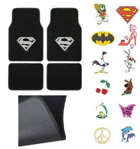 New 4pc Set Car Truck Suv Front Rear Back Carpet Floor Mats Official Licensed