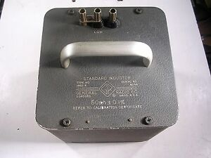 General Radio Standard Inductor Model 1482 k Tested Good
