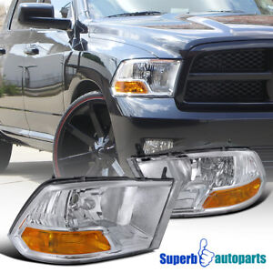 For 2009 2018 Dodge Ram 1500 2500 3500 Headlight Head Lamps Pair