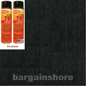 Black Headliner 2 Cans Hi Temp Glue Adhesive 10ftx54 Polymat S35 Fabric Liner