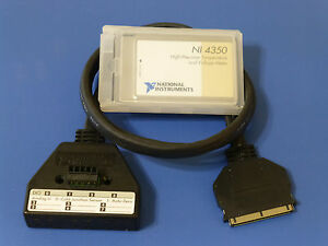 National Instruments Ni 4350 Pcmcia Temperature Voltage Meter Card W Cable