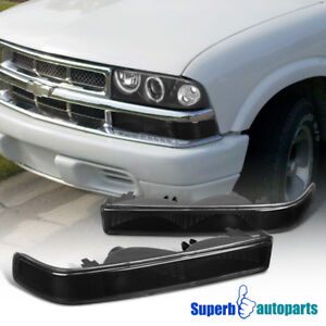 1998 2004 Chevy S10 Blazer Bumper Lights Signal Lamps Gmc Sonoma Black