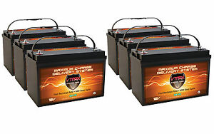 Qty 6 Slr125 Solar Agm Battery Hi Capacity Deep Cycle Maint Free