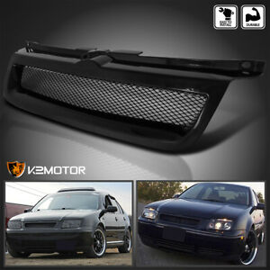 For 1999 2004 Vw Jetta Mk4 Badgeless Mesh Style Front Hood Grill Grille Black